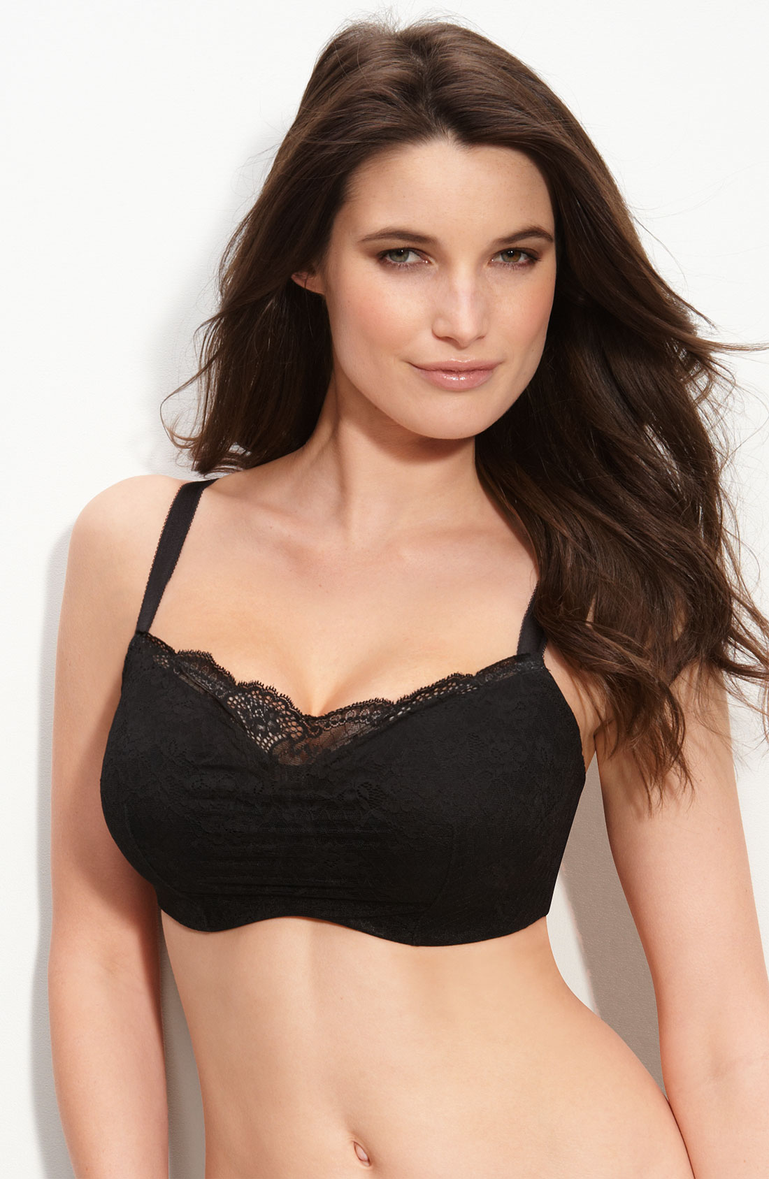 Le Mystere Black Lace Cambria Cami Full Fit Bra In Black