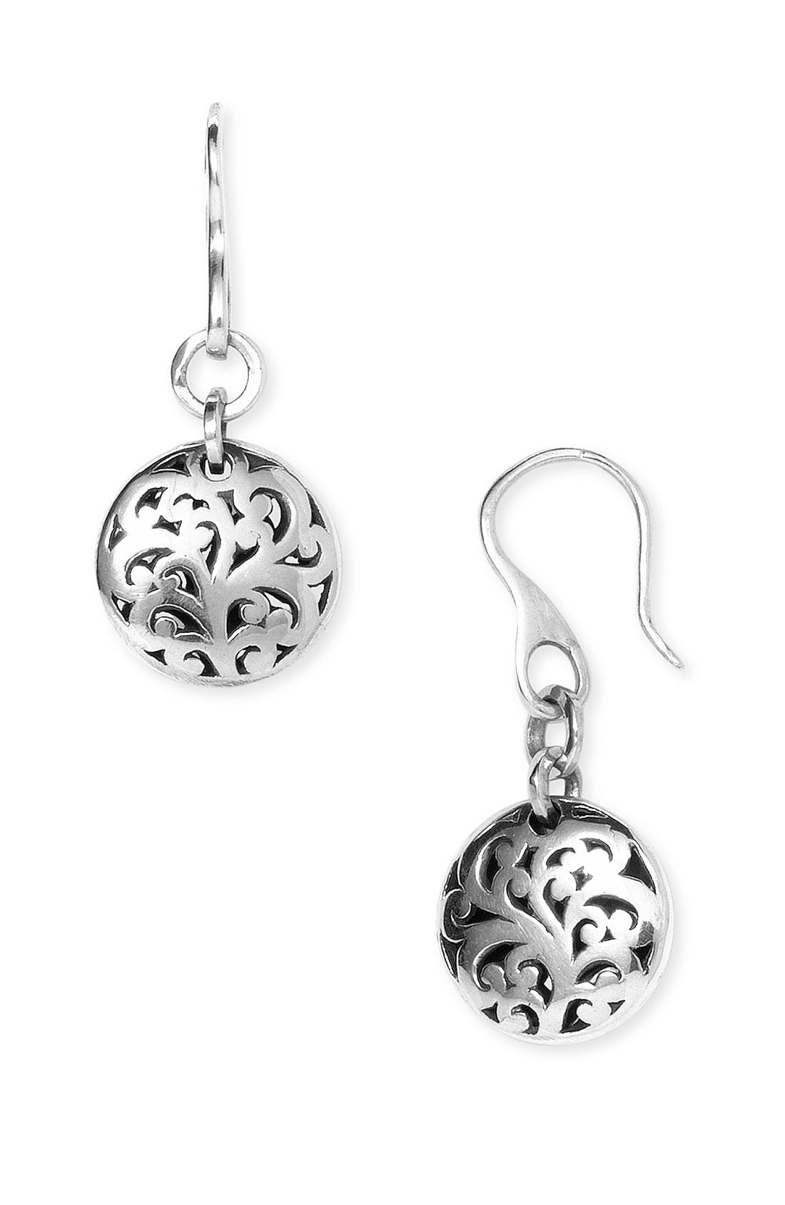 lois hill disc earrings in silver sterling lyst