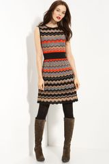 M Missoni Metallic Zigzag Stripe Dress - Lyst