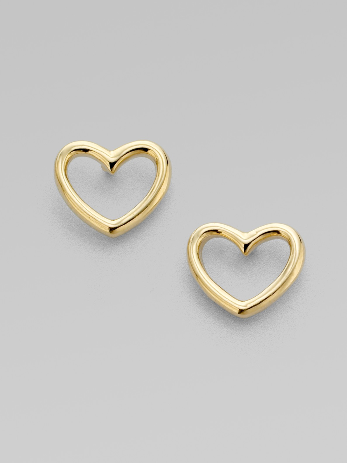 heart earrings gold - photo #38