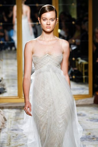 Marchesa Spring 2012 Chiffon Bandeau Dress - Lyst