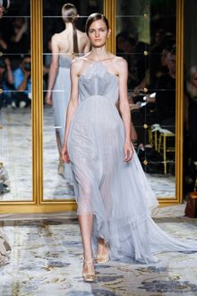 Marchesa Spring 2012 Lilac Bandeau Dress - Lyst