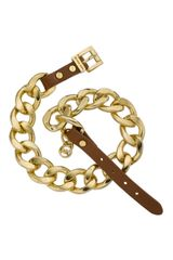 Michael Kors Double-wrap Chain Bracelet, Golden - Lyst