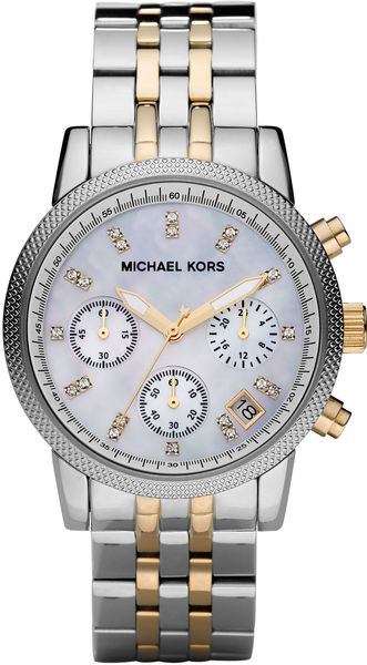 Michael Kors Two-tone Chronograph Watch - Lyst