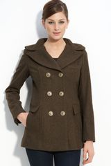 Miss Sixty Double Breasted Wool Blend Coat - Lyst