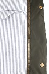 Moncler Gamme Bleu Cupro Coat in Khaki for Men - Lyst