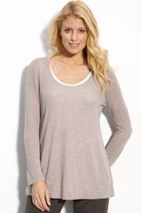 Nic + Zoe Layered Scoop Neck Top - Lyst