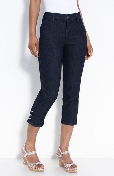 not your daughter 39 s jeans rhinestone trim stretch capri. Black Bedroom Furniture Sets. Home Design Ideas