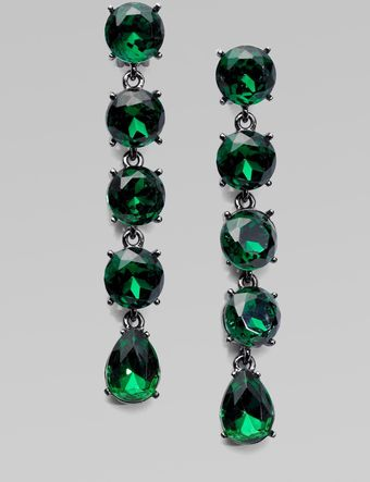 Oscar de la Renta Linked Crystal Drop Earrings - Lyst