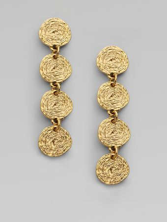 Oscar de la Renta Russian Gold Drop Earrings - Lyst