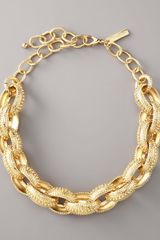 Oscar de la Renta Textured Link Necklace - Lyst
