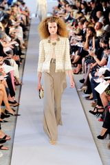 Oscar De La Renta Spring 2012 Gray Pants in Gray - Lyst