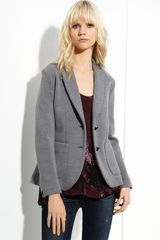 Rag & Bone Curtis Wool Knit Blazer -light Grey - Lyst
