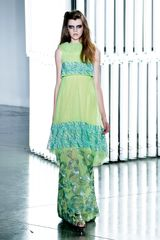 Rodarte Spring 2012 Layered Printed Chiffon Dress - Lyst