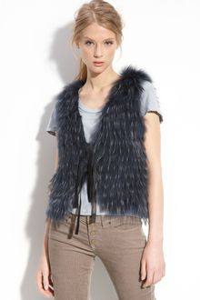 Royal Underground Genuine Raccoon Fur Vest - Lyst