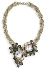 St. John Collection Faux Pearl & Faceted Glass Necklace - Lyst