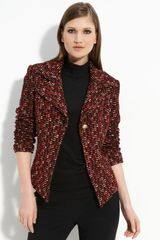 St. John Collection Regimental Tweed Jacket - Lyst