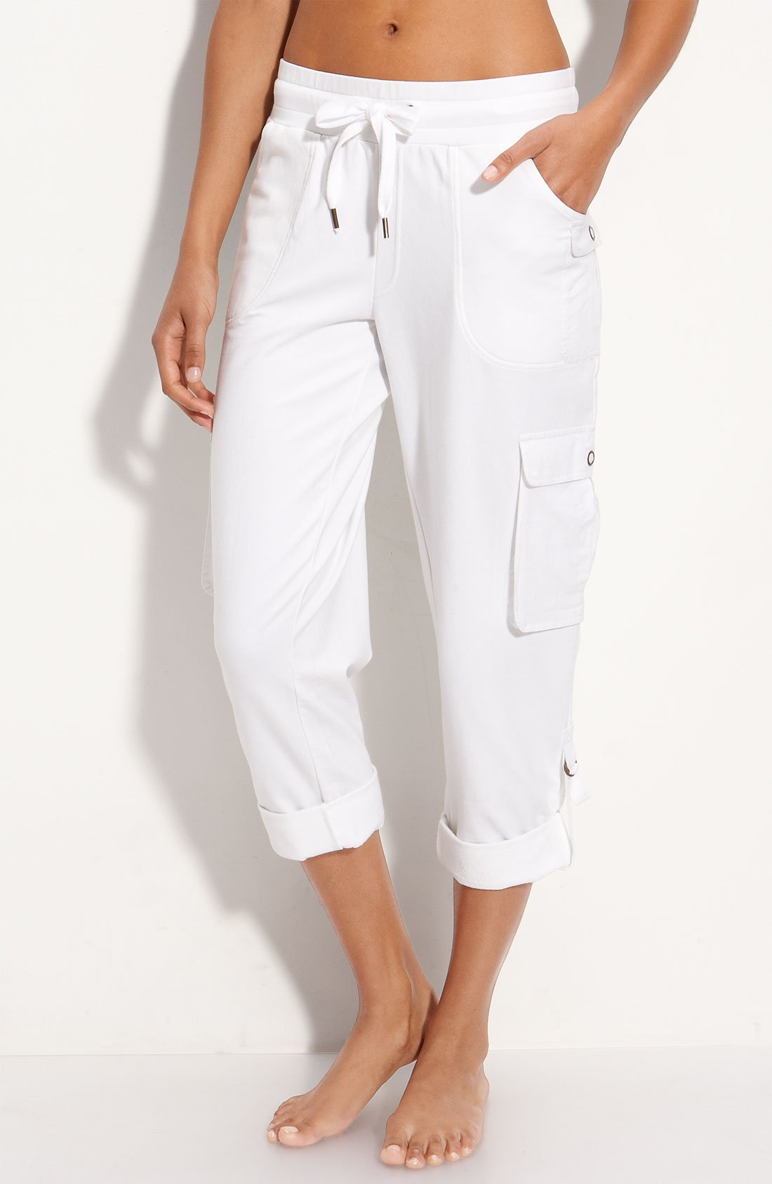 Womens White Capri Pants