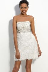 Sue Wong Organza Petal Sheath Dress - Lyst