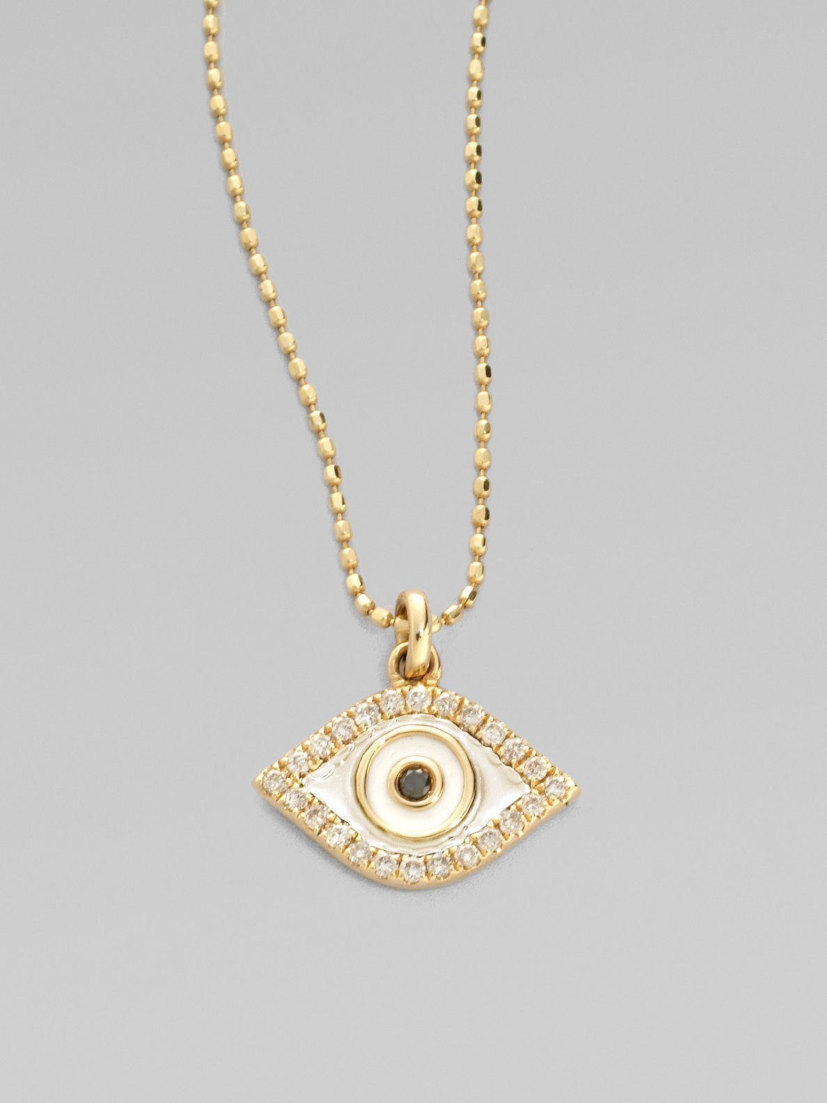 Sydney Evan 14k Gold Evil Eye Necklace with Single Diamond B4Idbnre3