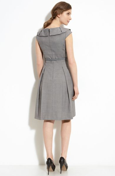 Tahari By Arthur S Levine Belted Dress In Gray Black