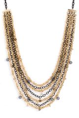Tasha Multi Row Long Chain Necklace - Lyst