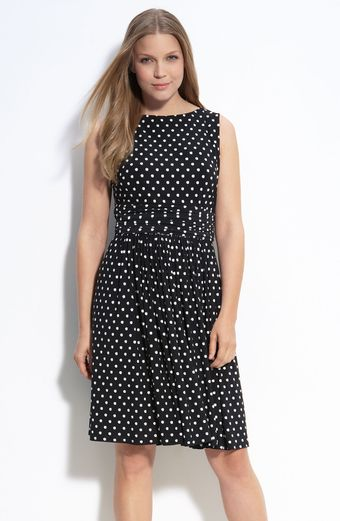 Taylor Dresses Polka Dot Jersey Dress - Lyst