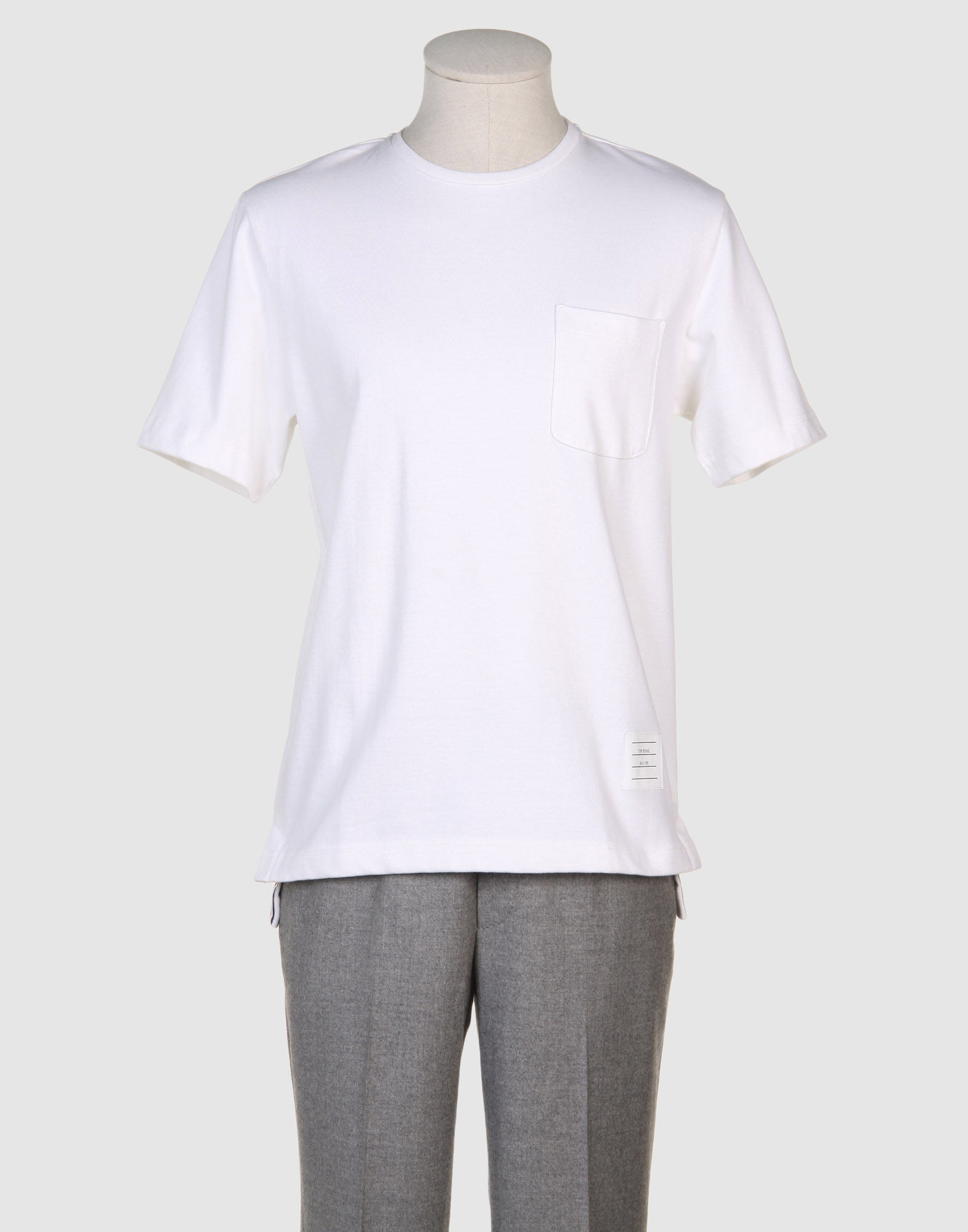Thom browne short sleeve t shirts in white for men lyst for Thom browne t shirt