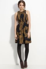 Tibi Lace Print Silk Dress - Lyst