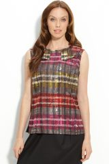 Trina Turk Sage Sleeveless Silk Blouse - Lyst