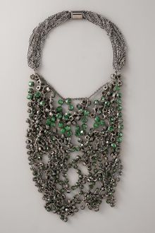 Vera Wang Wrapped Rhinestone Necklace, Green - Lyst