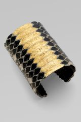 Yves Saint Laurent Black Mamba Cuff Bangle