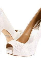 Badgley Mischka Womens Stella Open-Toe Pump - Lyst