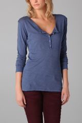 Daftbird Detailed Long Sleeve Henley - Lyst