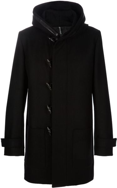 Dior Hooded Coat in Black for Men - Lyst