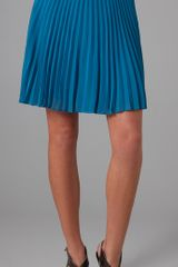 Halston Heritage Short Pleated Skirt - Lyst