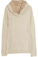 J.Crew Wool and Cotton-blend Hooded Sweater - Lyst