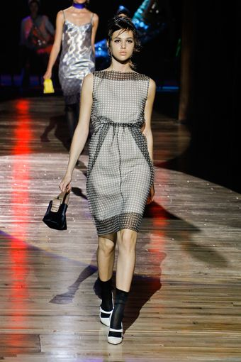 Marc Jacobs Spring 2012 Gingham Overlay Dress - Lyst