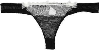 Mimi Holliday By Damaris Éclair Lace and Chiffon Thong - Lyst