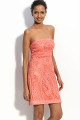 Sue Wong Embellished Strapless Dress - Lyst