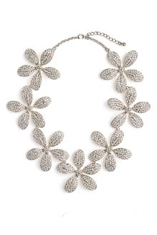 Tasha Pavé Flower Statement Necklace - Lyst