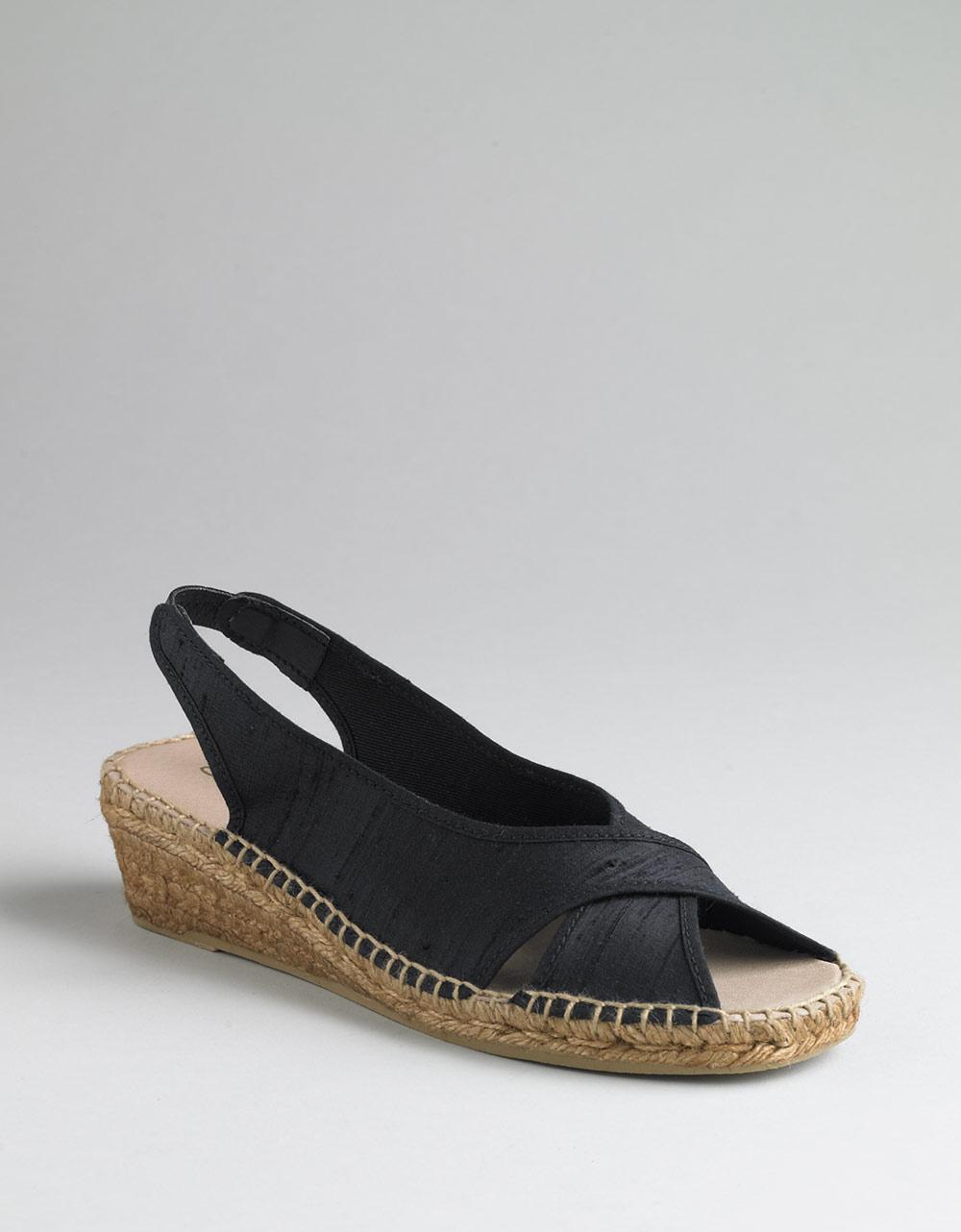 andre assous dodie linen espadrille platform wedge sandals