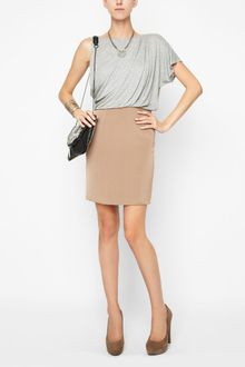 BCBGeneration Draped Combo Dress - Lyst