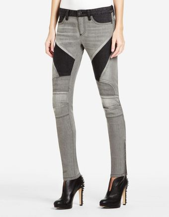 BCBGMAXAZRIA Jada Black Denim Pants - Lyst