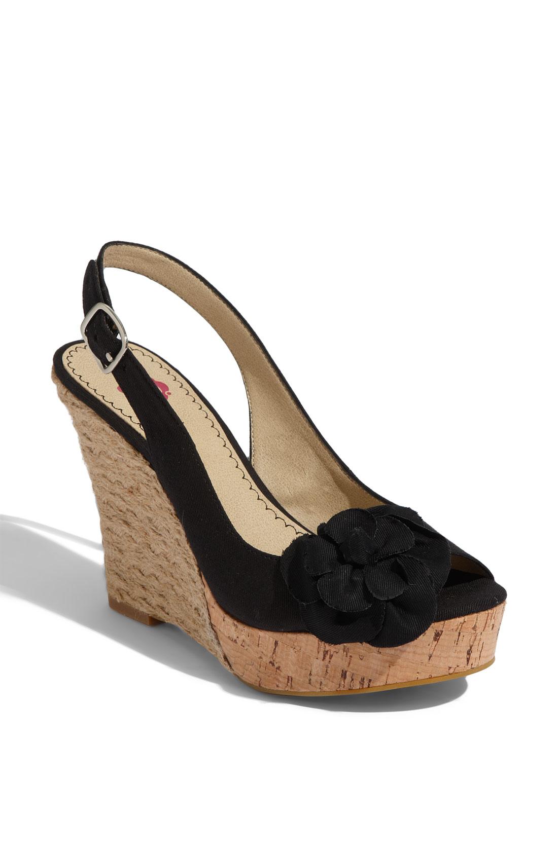 bp bp blooms espadrille slingback sandal in black lyst