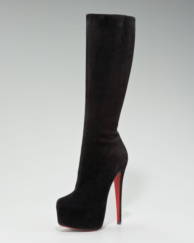 christian louboutin velvet boots