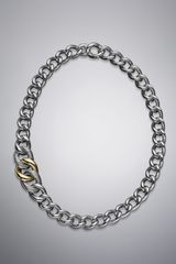 David Yurman Curb Chain Graduated Necklace - Lyst