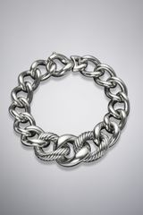 David Yurman Graduated Curb Chain Bracelet, Extra Large - Lyst
