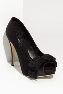 Dolce & Gabbana Lace Bow Satin Pump - Lyst