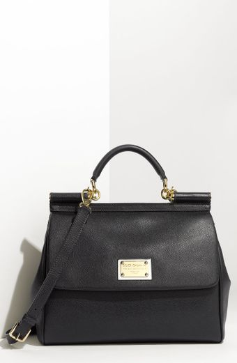 Miss Sicily Calfskin Leather Satchel